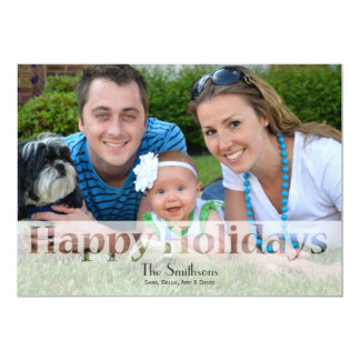 "Mod Holiday Photo Cards 5"" X 7"" Invitation Card"