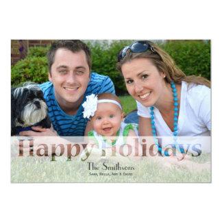 Mod Holiday Photo Cards Custom Announcement