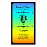 mod hot air balloon business card