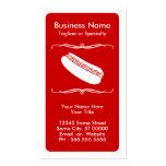 mod hot dog loyalty card business card templates
