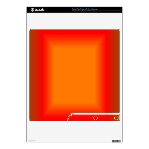 Mod in Red & Orange PS3 Slim Skin