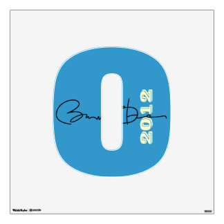 Mod Initial Obama 2012 Wall Decal