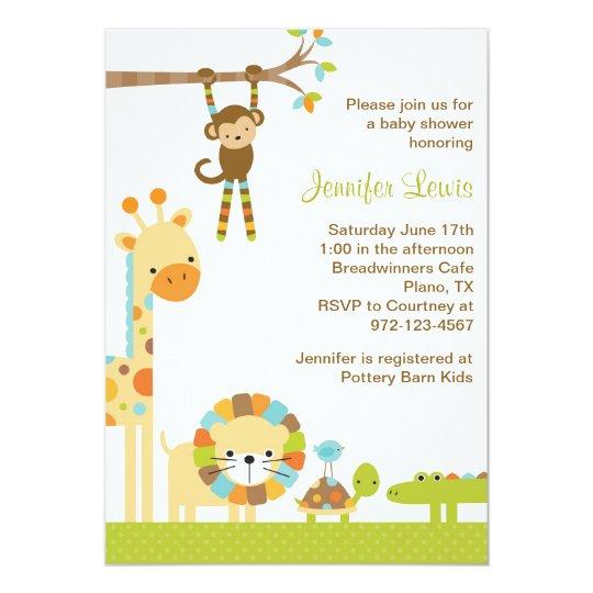 Elegant Safari Baby Shower: Mod Jungle Safari Baby Shower Invitation