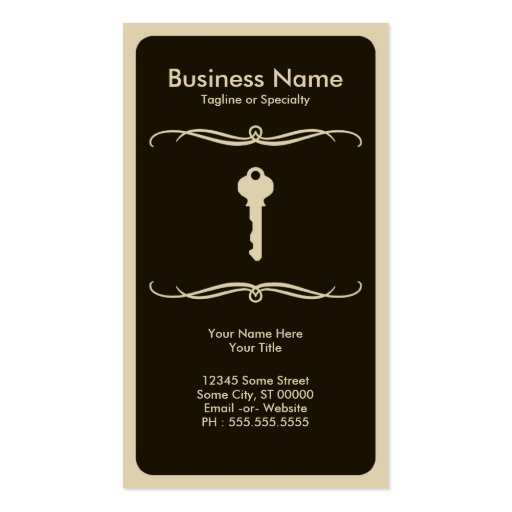 mod key business card template