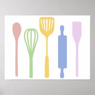 Mod Kitchen - poster Poster