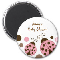 Mod Ladybug Baby Shower Party Favor Magnets