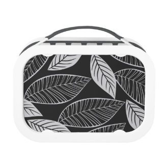 Mod Leaves (black and white) Lunchbox