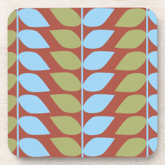 Mod Leaves Pattern Set of 6 Coasters
