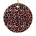 Mod Leopard Double-Sided Ceramic Round Christmas Ornament