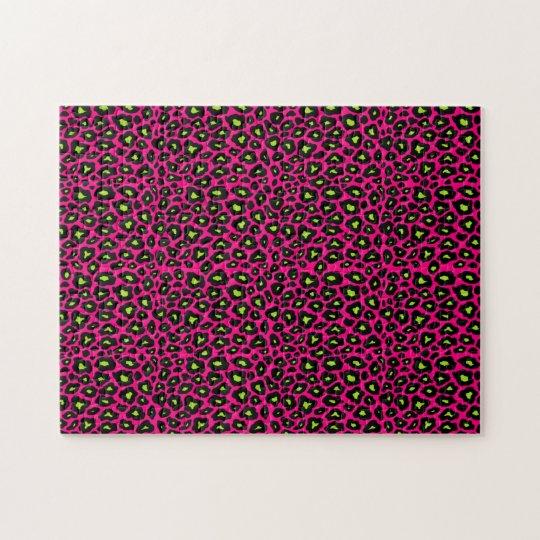 Mod Leopard Pattern Jigsaw Puzzle
