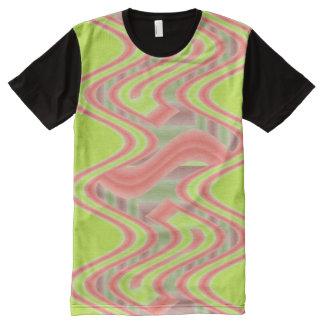 Mod Lime Green orange abstract All-Over-Print Shirt