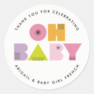 Mod Mama Modern Baby Shower Oh Baby Sticker