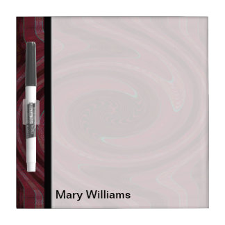 Mod Maroon Red Swirl Abstract Dry-Erase Board