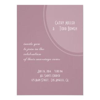 Mod Mauve Pink Wedding Card