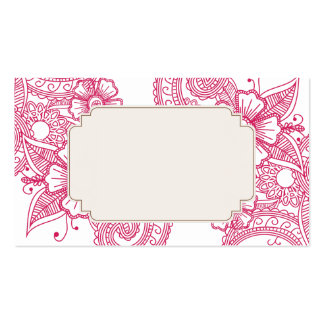 Mod Mehandi Wedding Escort Cards Double-Sided Standard Business Cards (Pack Of 100)