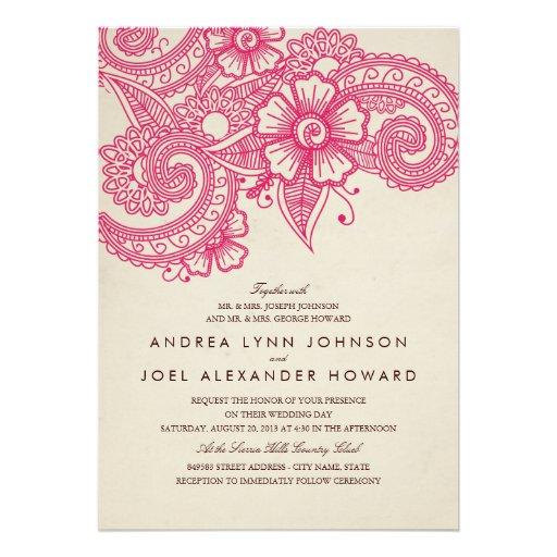 Personalized Henna mehndi Invitations CustomInvitations4Ucom