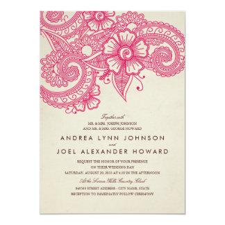 "Mod Mehandi Wedding Invitation 5"" X 7"" Invitation Card"