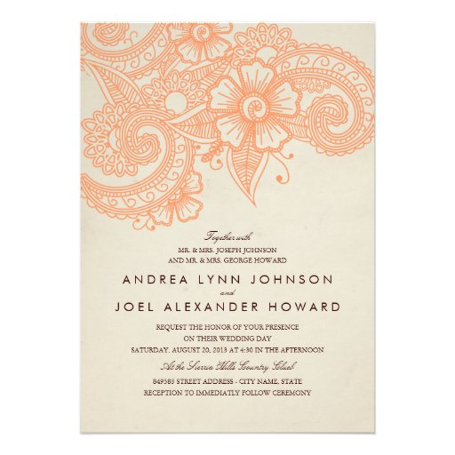 Orange And Blue Wedding Invitations is best invitations example