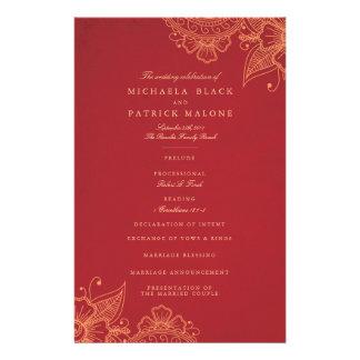 Mod Mehandi Wedding Programs