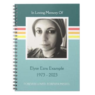 mod memorial guest book spiral notebook