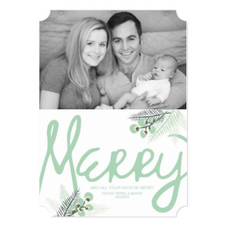 Mod Merry Berries Holiday Photo Card Personalized Invite