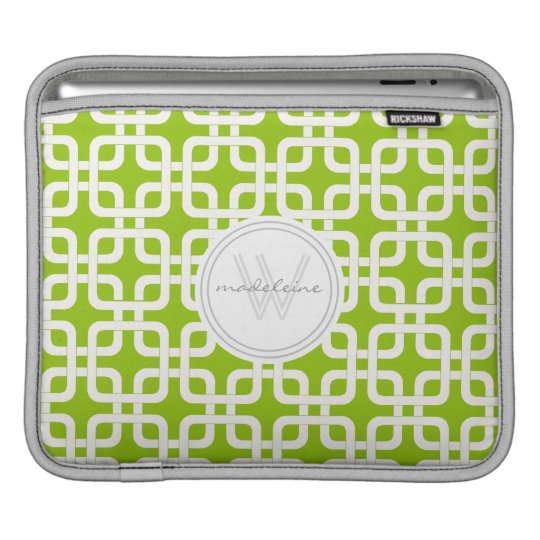 Mod Mid-Century Modern Rounded Corner Square Retro Sleeve For iPads