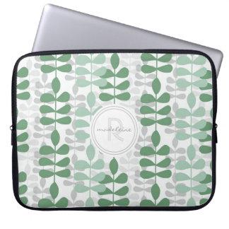 Mod Modern Fern Leaf Graphic Design Pattern Cases Computer Sleeves