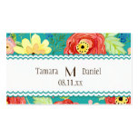 Mod Modern Floral Ranunculus Leaf Rose Bracket Business Card
