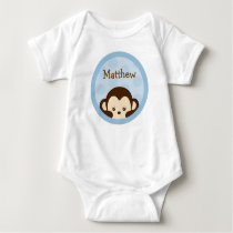 Mod Monkey Baby Birthday T-Shirt