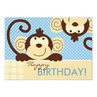 Mod Monkey Birthday Card