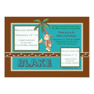 MOD Monkey Birthday Invite - Personalize