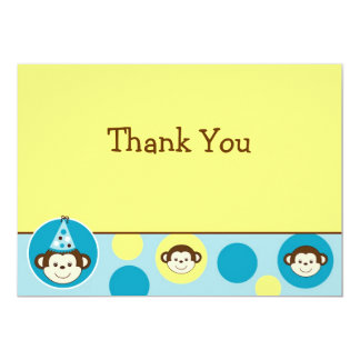 Mod Monkey Birthday Thank You Note Cards