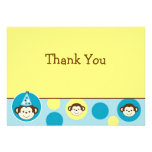 Mod Monkey Birthday Thank You Note Cards Custom Announcements