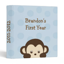 Mod Monkey Blue Baby Photo Album Scrapbook Binder