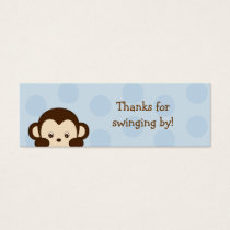 Mod Monkey Blue Party Favor Gift Tags