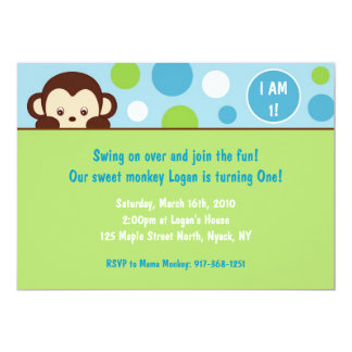 Mod Monkey Custom Birthday Invitations
