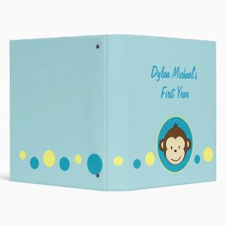 Mod Monkey Dots Baby Photo Album 3 Ring Binder