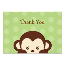 Mod Monkey Dots Flat Thank You Note Cards