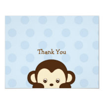 Mod Monkey Flat Thank You Note Cards