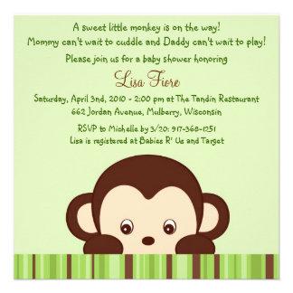 Mod Monkey Jungle Baby Shower Invitations