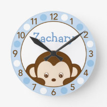 Mod Monkey Personalized Nursery Wall Clock