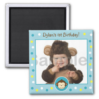Mod Monkey Photo Birthday Favor Magnets