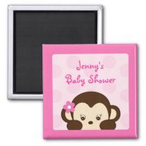 Mod Monkey Polka Dot Party Favor Magnets