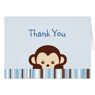 Mod Monkey Thank You Note Cards