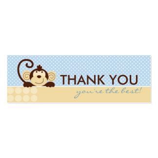 Mod Monkey TY Skinny Gift Tag Mini Business Card