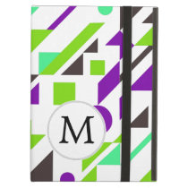Mod Monogram Geometric Patterns Cover For iPad Air