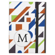 Mod Monogram Geometric Patterns iPad Air Cover
