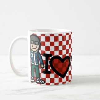 mod moped mug. coffee mug