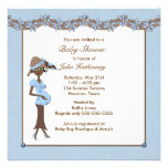 Mod Mother To Be Ethnic Boy Shower Invitations