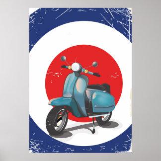 Mod Motorbike vintage poster